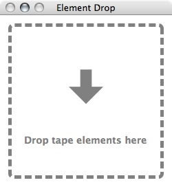 Element Drop Drag and Drop Interface