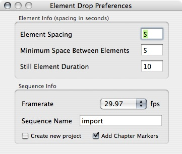 Element Drop Preferences