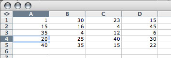 Spreadsheet with random CSV numbers